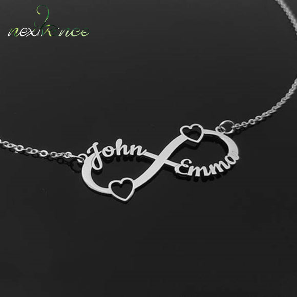 Endless Love Couple Infinity Necklace