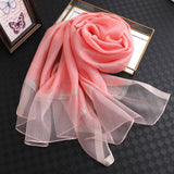 Designer 2019 solid silk and cotton scarf - CustomGrace