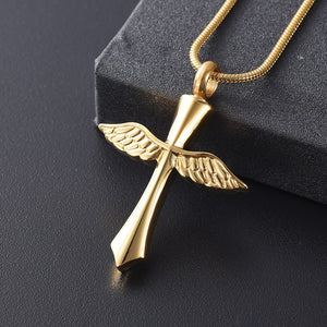 Guardian Angel Memorial Urn Necklace - CustomGrace