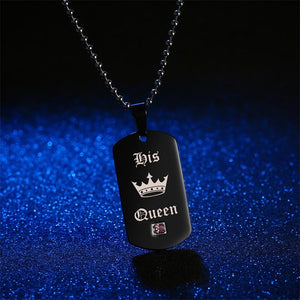 Her King & His Queen Couple Necklace Set