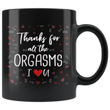 Funny Thank you Black Coffee Mug- Best Valentine's Day Gift