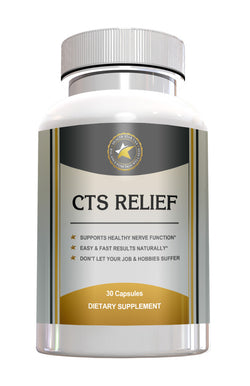 Carpal Tunnel Syndrome-CTS RELIEF -Nutritional Support for Healthy Nerves