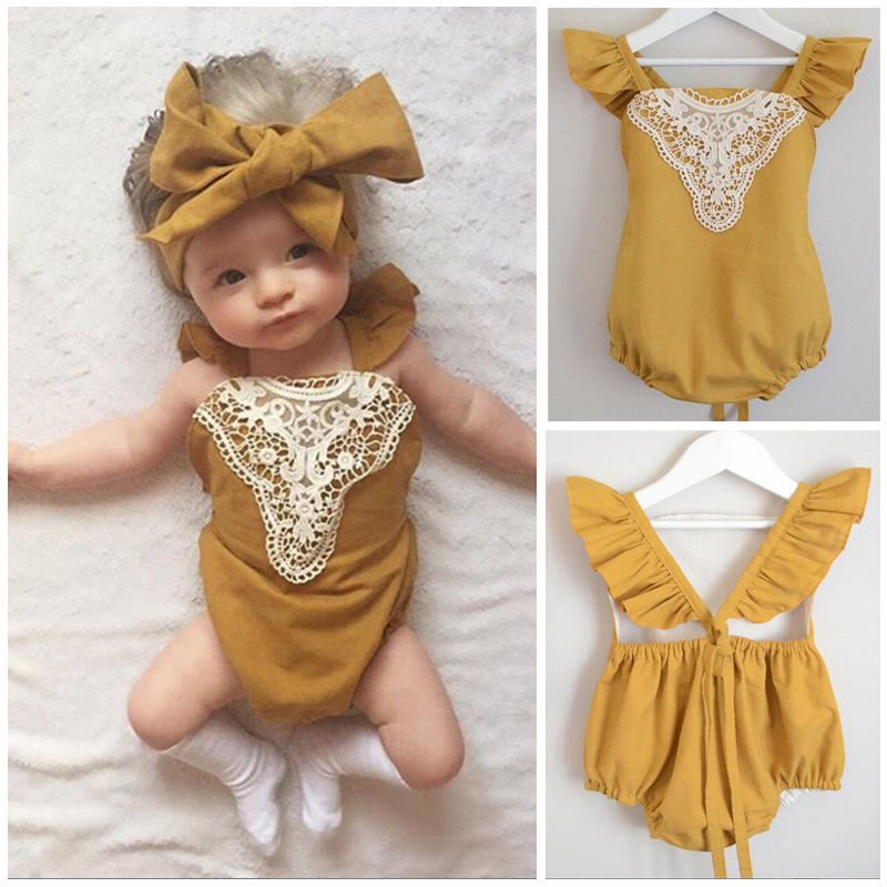 Mia summer bodysuit and Headband (Baby &Toddler)