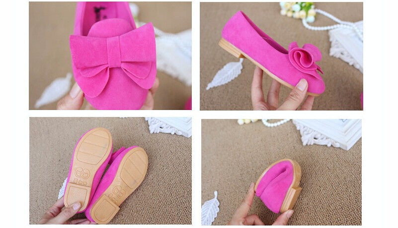 Big Bow Flock Candy Shoes