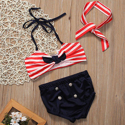 Vintage Red Striped Bathing Suit (Baby & Toddler)