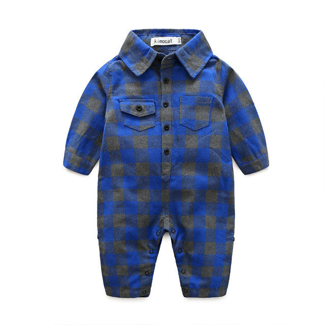 Little Lumberjack Plaid Jumpsuit