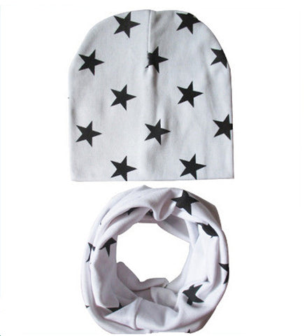 Light Cotton Beanie hat and Scarf Set - Unisex (choose a color)