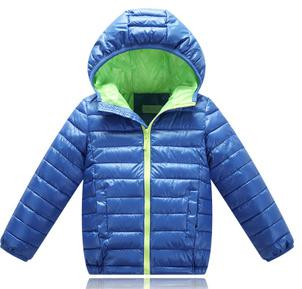 Hooded Long Sleeve Kids Winter Jacket