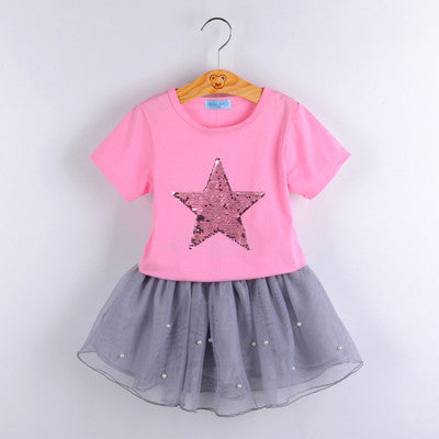 Sparkly Star Two Piece Outfit (Toddler & Kids)