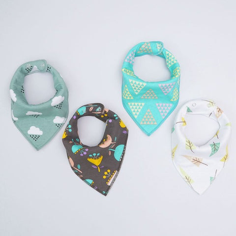 4 pcs set Bandana bibs (Choose your patterns)