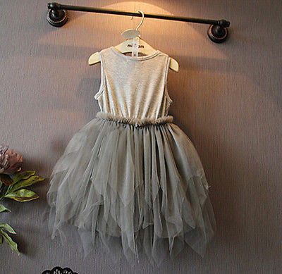 Vintage Grey Party Dress