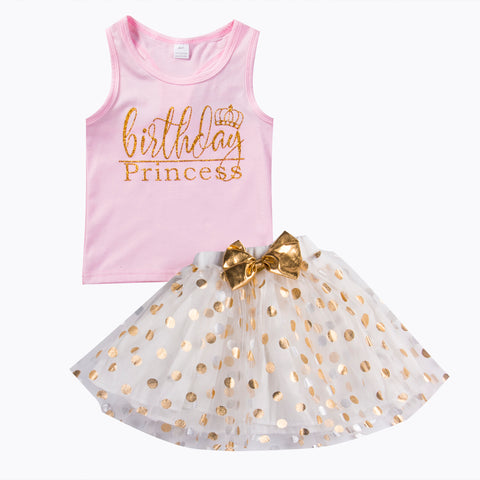 Sofie Birthday princess Tutu two pieces set (Choose your color)