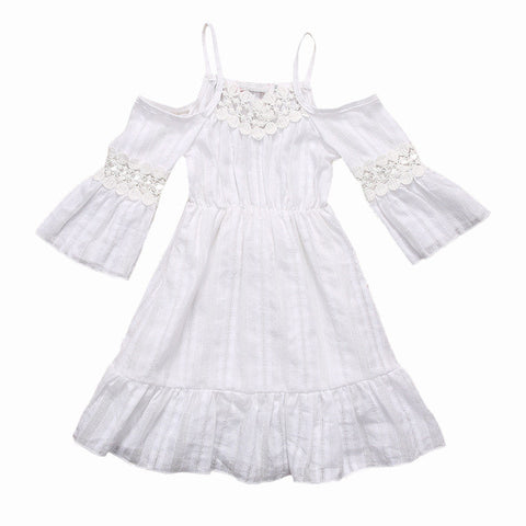 Summer Cold Shoulder Dress (Toddler & Kids)