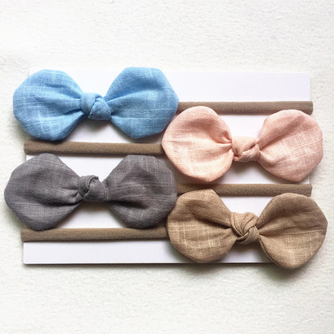 Cloth Hair Bows 4 Pcs