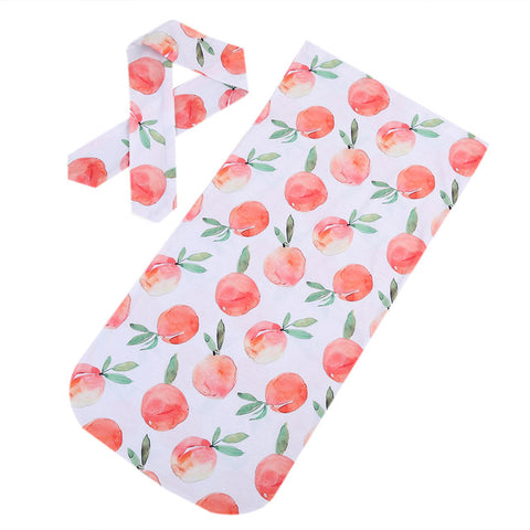 Newborn Swaddle Wrap & Headband 2 pieces set
