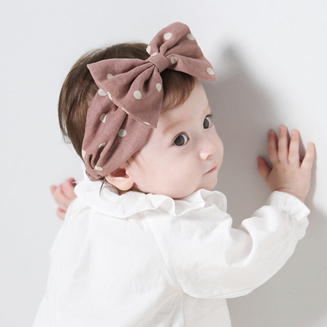 Baby Bow Hairband (Blue or Pink)