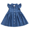 Kathy Denim dress with ruffle shoulder (Toddler & Kid)