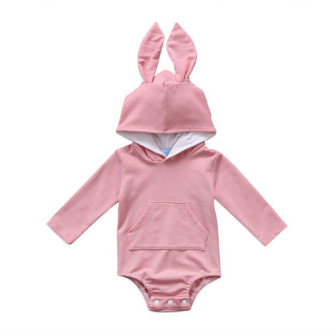 Hoodie with Rabbit ears - Pink or Grey