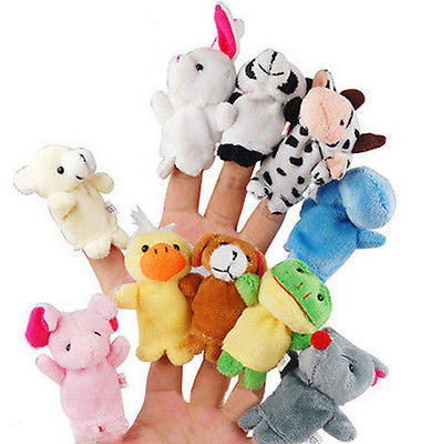 Finger Puppets Animals (Baby) - 10 pcs
