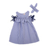 Navy Dress with headband set  (Kids)