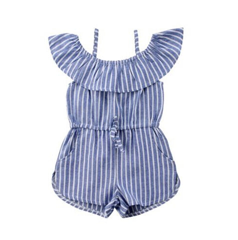 Denim striped Romper (Toddler & Kids)