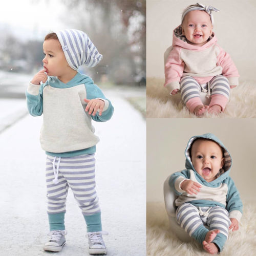 Comfy 3 pieces outfit (Baby & Toddler) - Choose Pink or green