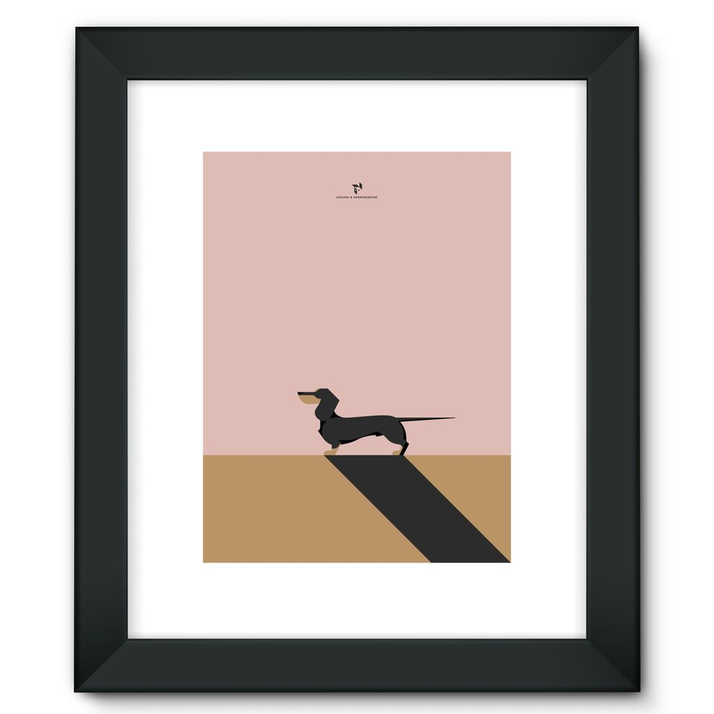 Framed Dachshund Fine Art Print by H&H