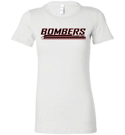 Bella Ladies Bombers Baseball Club Logo 2 Tee