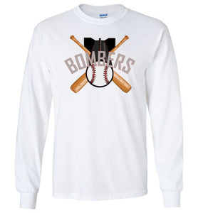 Gildan Long Sleeve Bats and Bombs Logo Tee