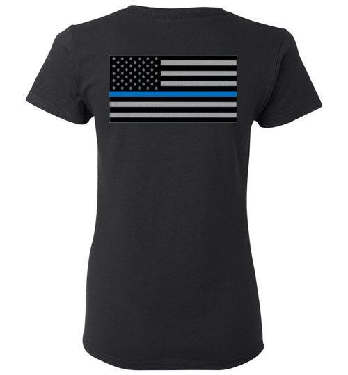 Womens SLC PD Blue Line Patch Tee