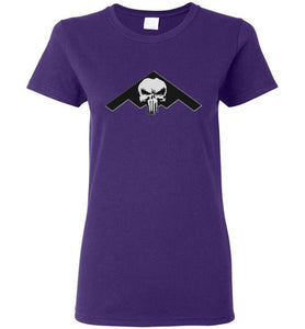 Women's B-2 punisher style T-shirt