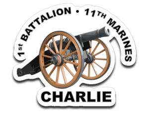 "1-11 Marines ""Old Cannon"" logo sticker"