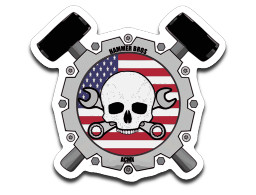Hammer Bros Old Glory sticker