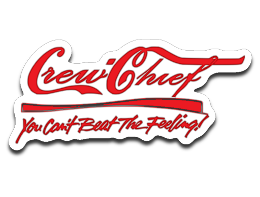 Crew Chief soda logo sticker