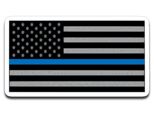 Police Blue Line Old Glory decal