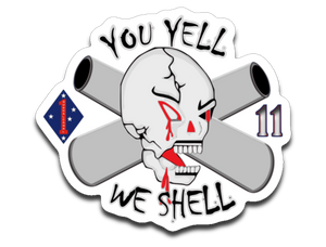 "1-11 Marines ""PT"" logo sticker"
