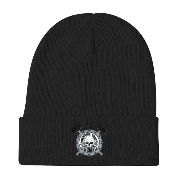 Hammer Bros Logo Embroidered Knit Beanie