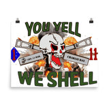 1-11 Marines HB logo Photo paper poster
