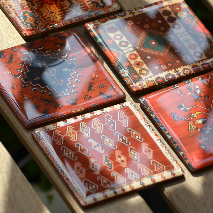 Coasters Set - Persian Red Carpet
