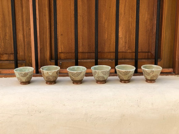 Beige Mini Cups - Set of 6