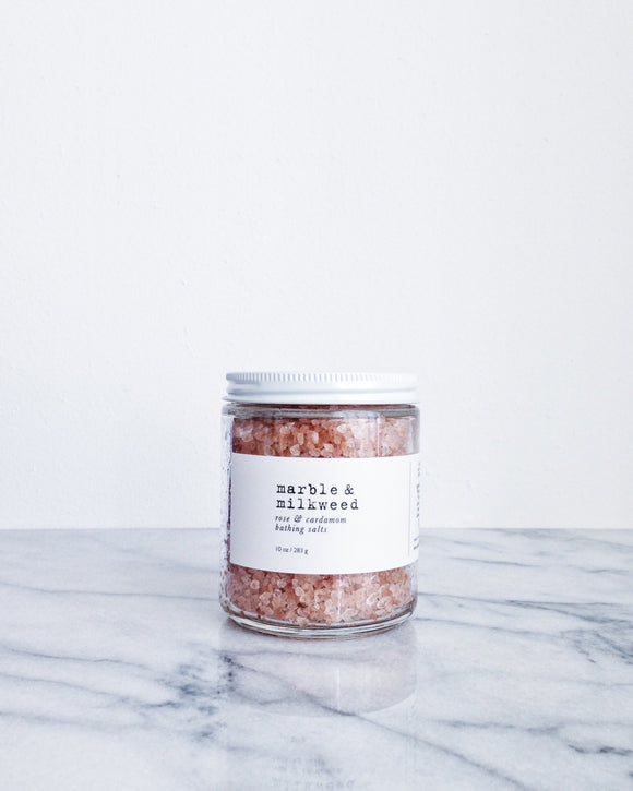 Rose & Cardamom Bathing Salts