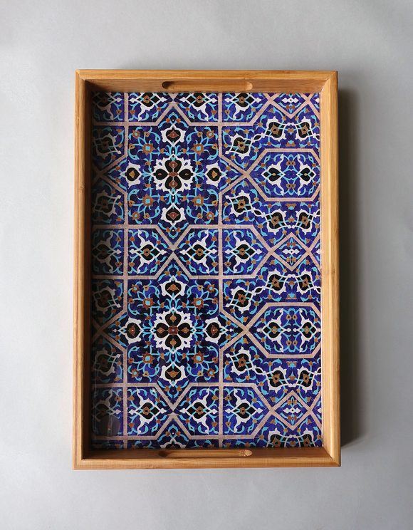 Isfahan Jame tile - Persian Design Wooden Tray