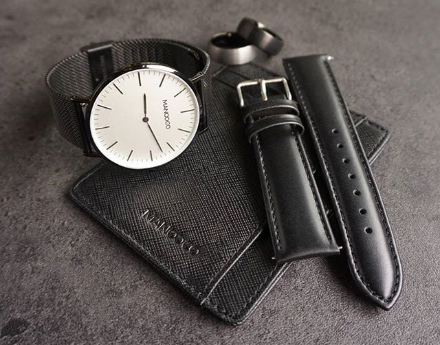 Manooco watches, wallets, watch straps and rings