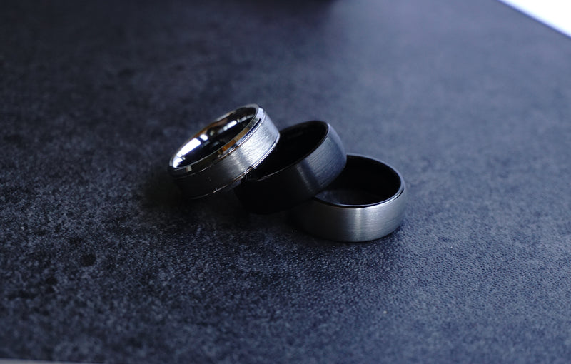 Manooco wolfram carbide rings for men and women