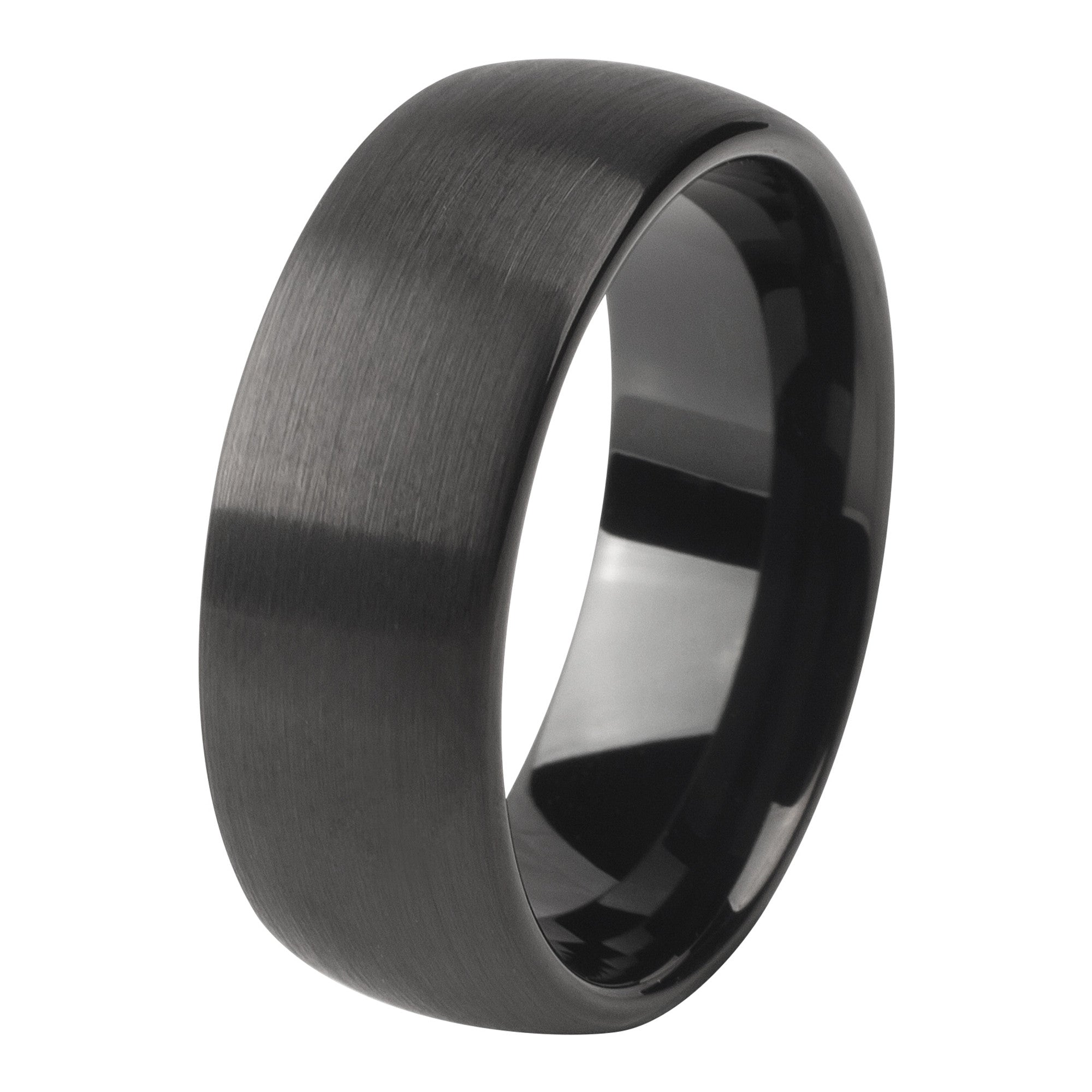 Black brushed ring 8mm - Ring - MANOOCO - Ring - manooco
