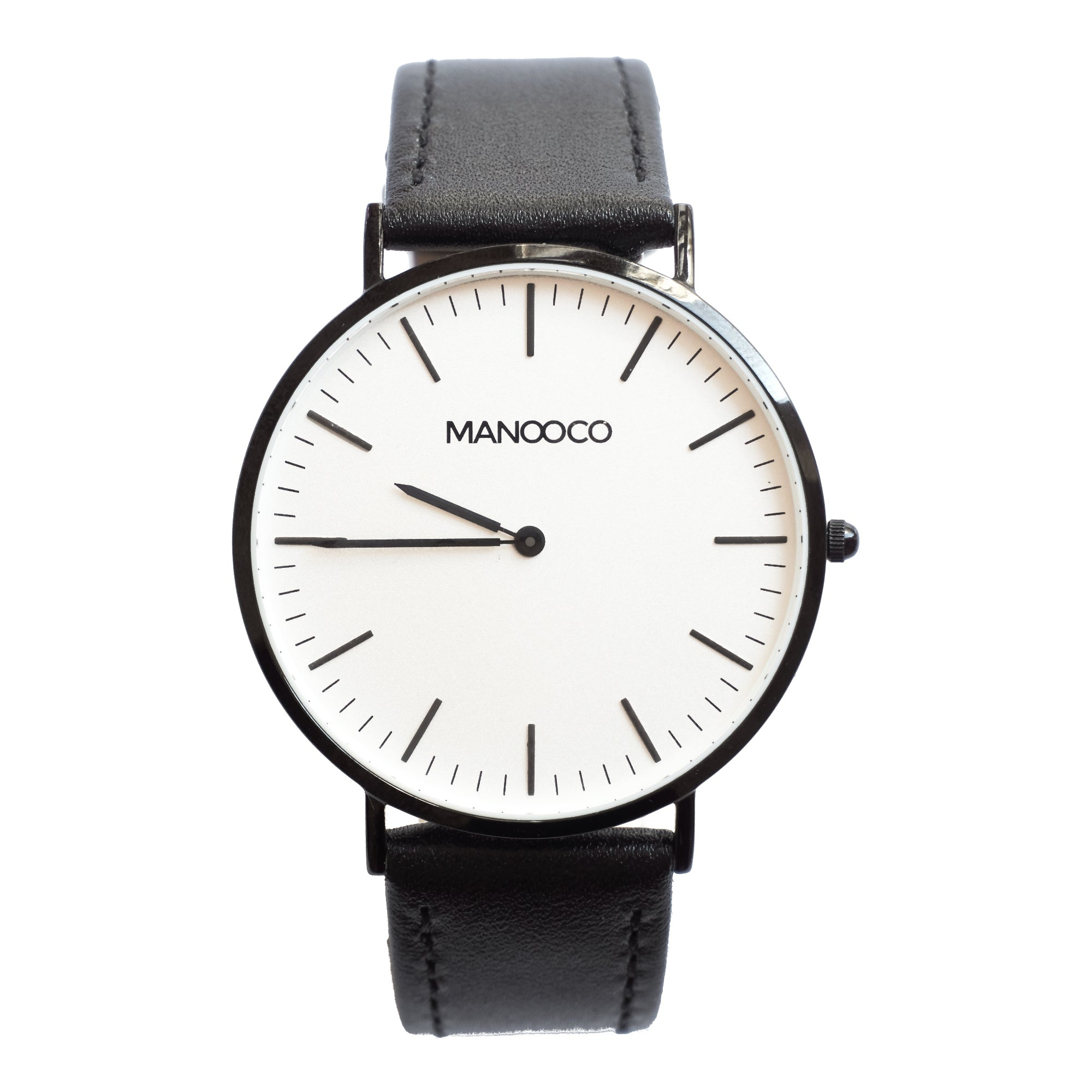 Zephyr Black / Black Matt Leather - Watch - MANOOCO - Watch - manooco