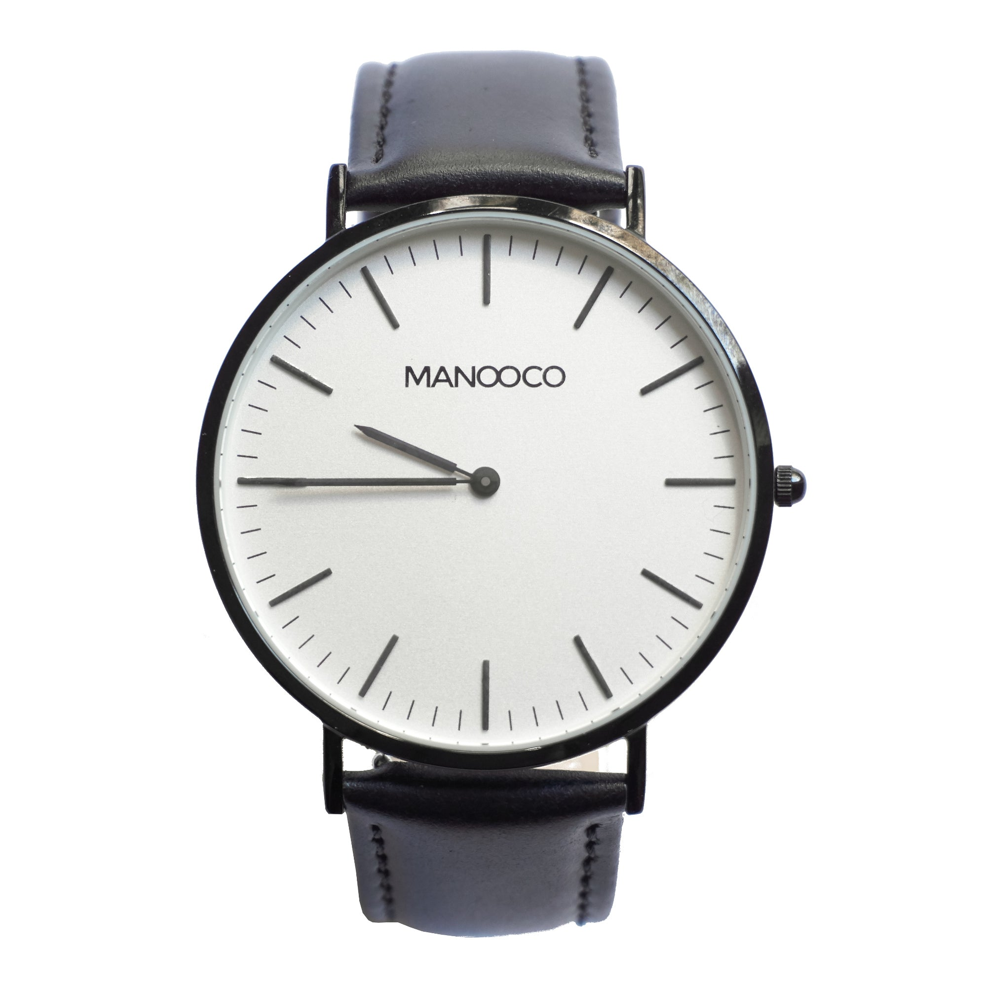 Zephyr Black / Black Glossy Leather - Watch - MANOOCO - Watch - manooco