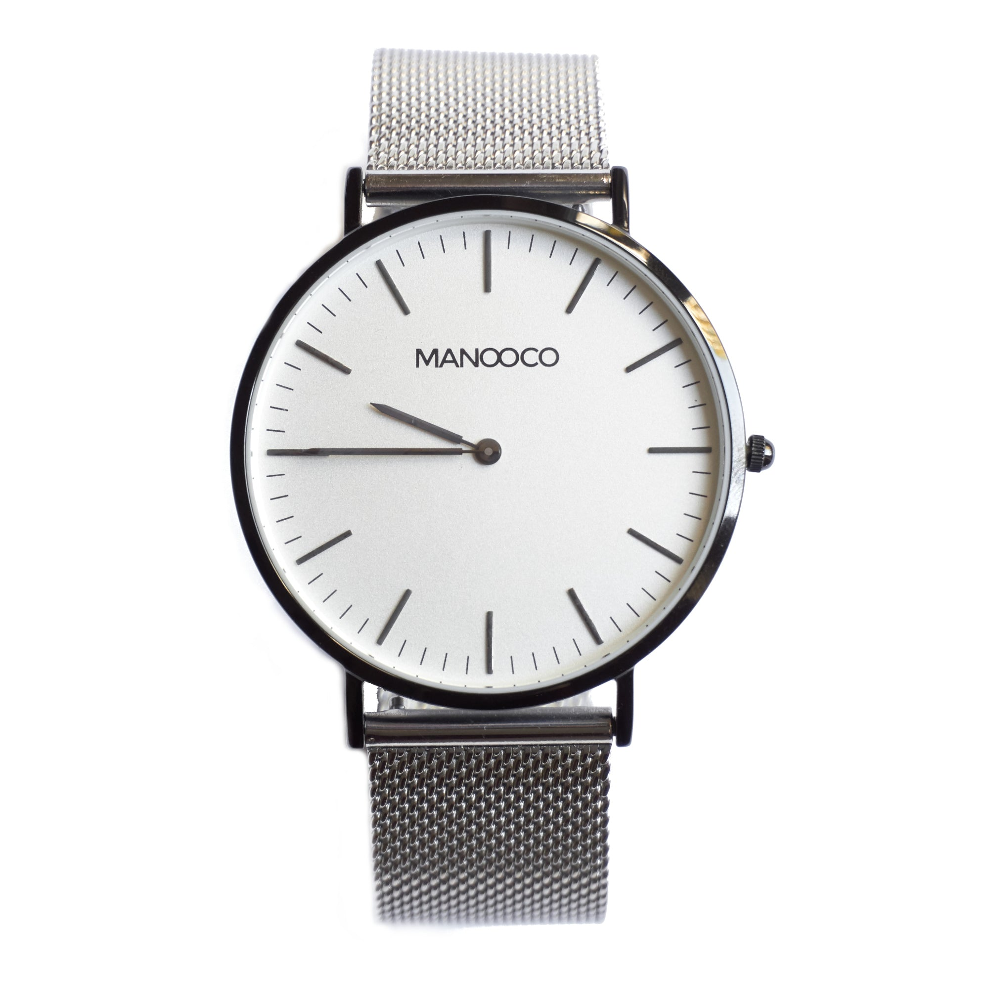 Zephyr Black / Silver Mesh - Watch - MANOOCO - Watch - manooco