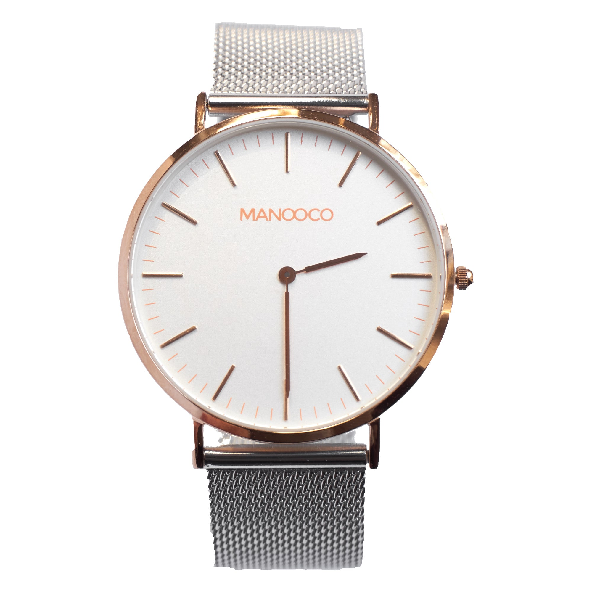 Zephyr Rose Gold / Silver Mesh - Watch - MANOOCO - Watch - manooco