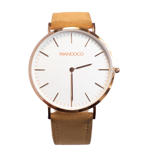 Zephyr Rose Gold / Light Brown Leather - Watch - MANOOCO - Watch - manooco